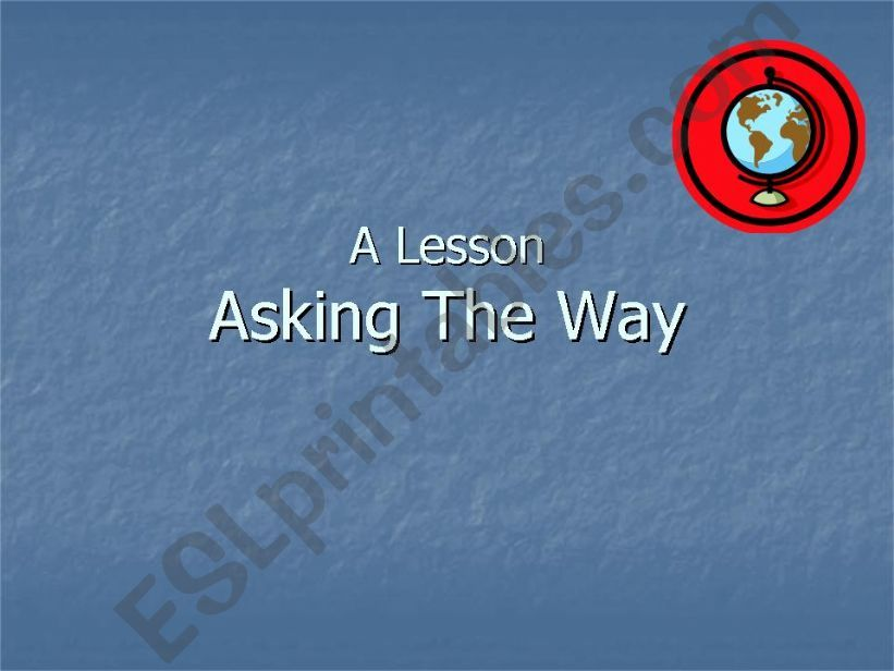 Asking the way powerpoint