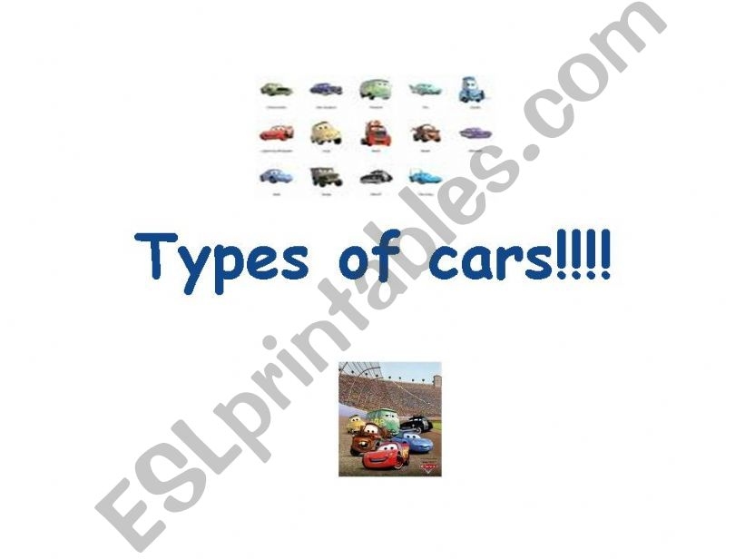 Types of cars  powerpoint