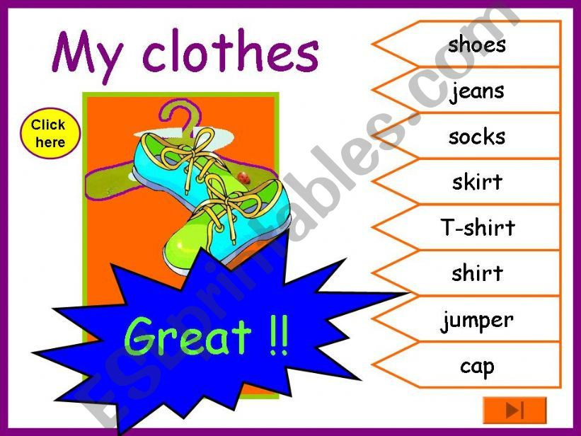 Clothes. powerpoint
