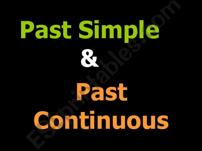 Past Simple and Continuous powerpoint