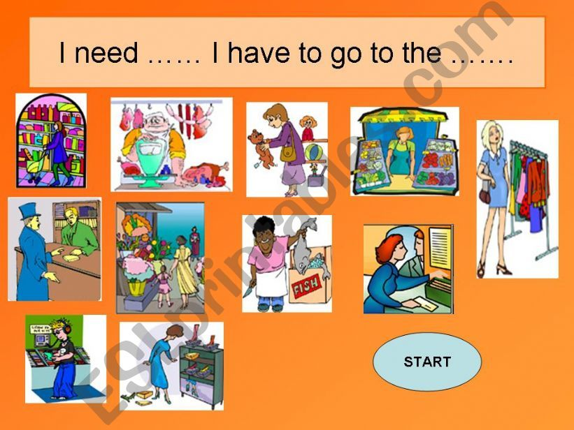 GAME-Shops in the town  powerpoint