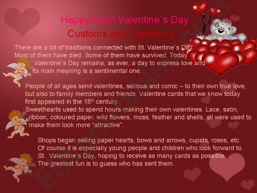 Happy St. Valentine`s Day powerpoint