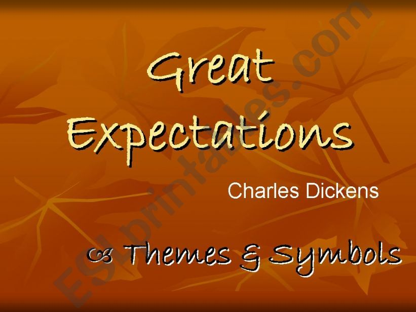 Great Expectations: Themes and Symbols