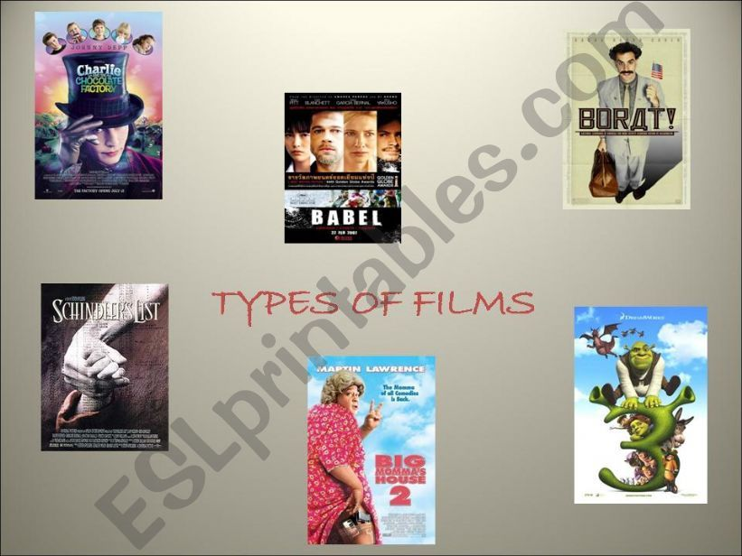 powerpoint about types of films (part 1)