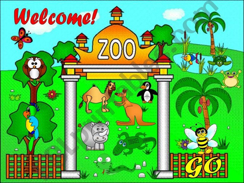 esl english powerpoints the zoo game