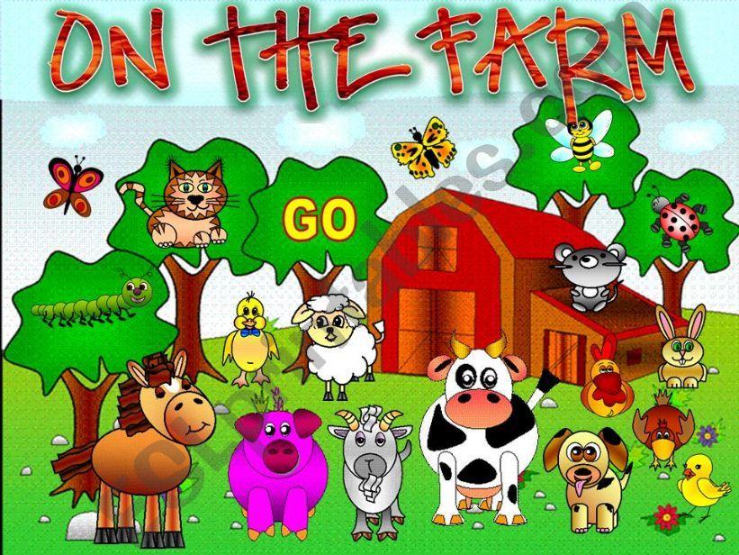 esl english powerpoints on the farm game