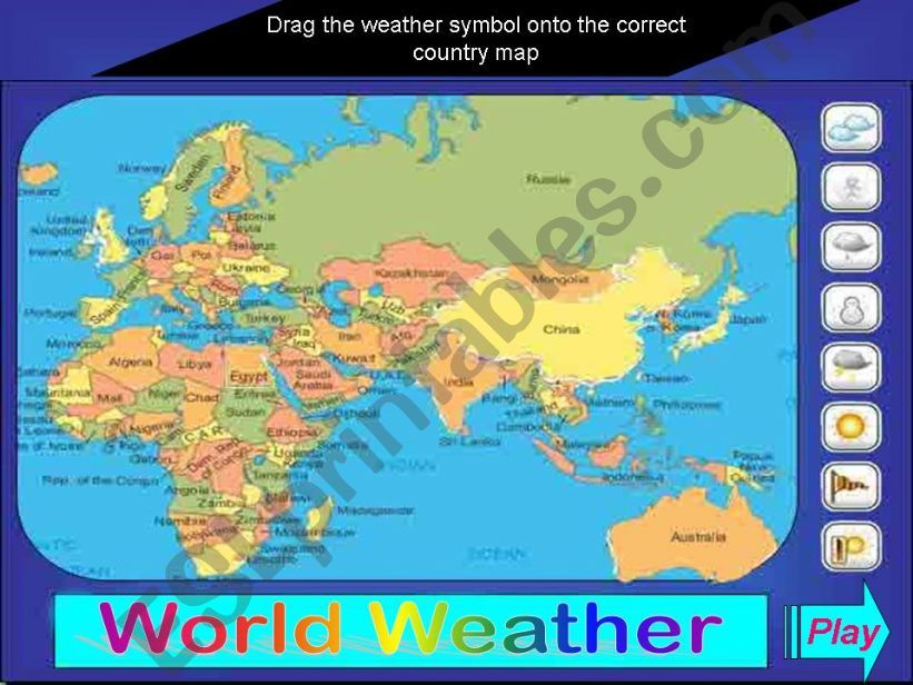 WORLD WEATHER GAME powerpoint