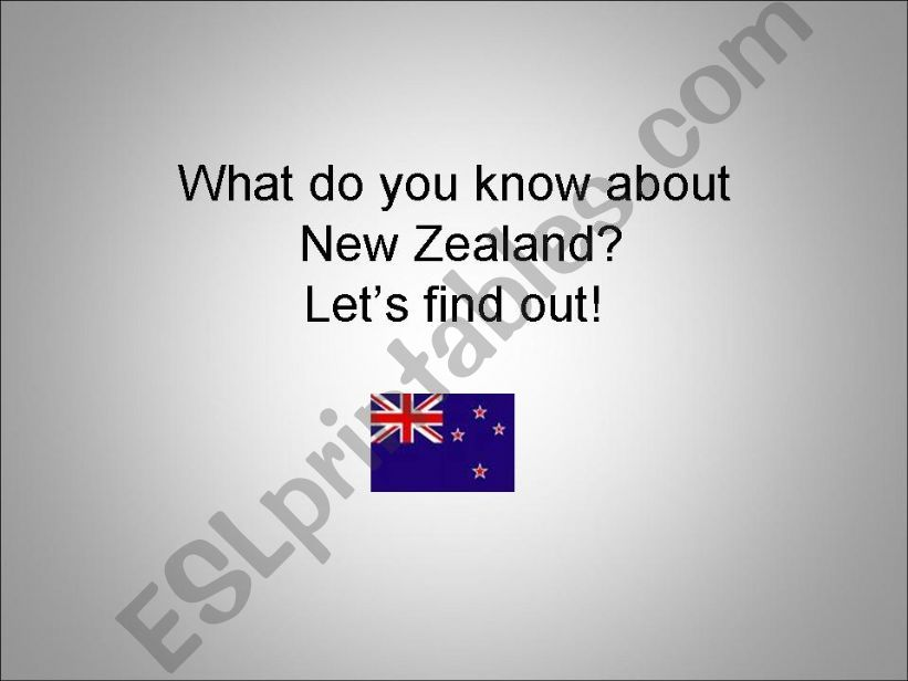 New Zealand powerpoint