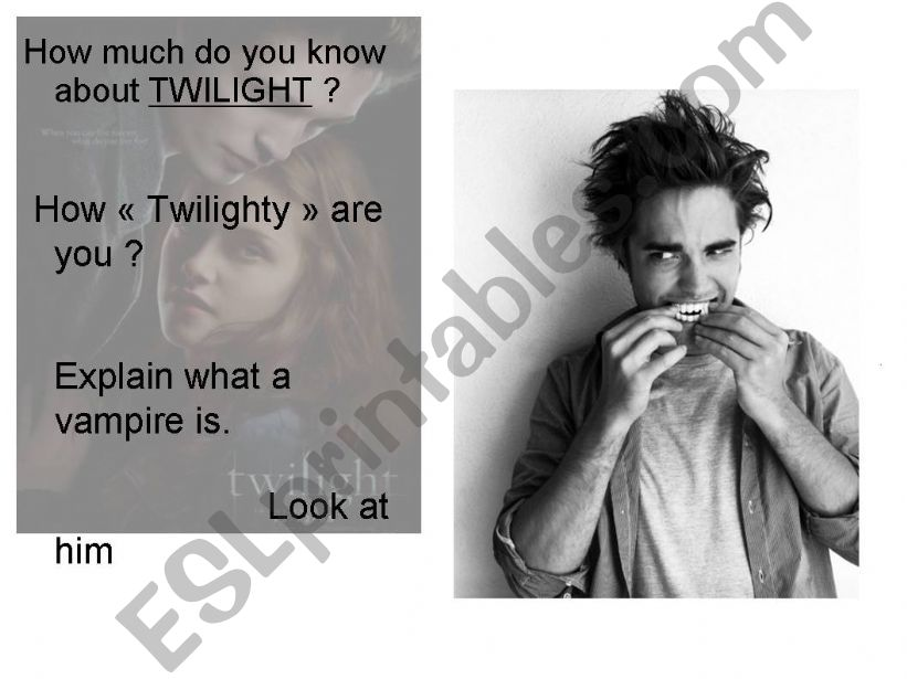 Discussion over TWILIGHT ^^ powerpoint