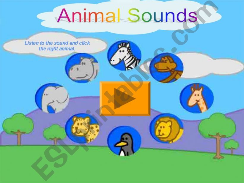 Animal Sounds Game  powerpoint