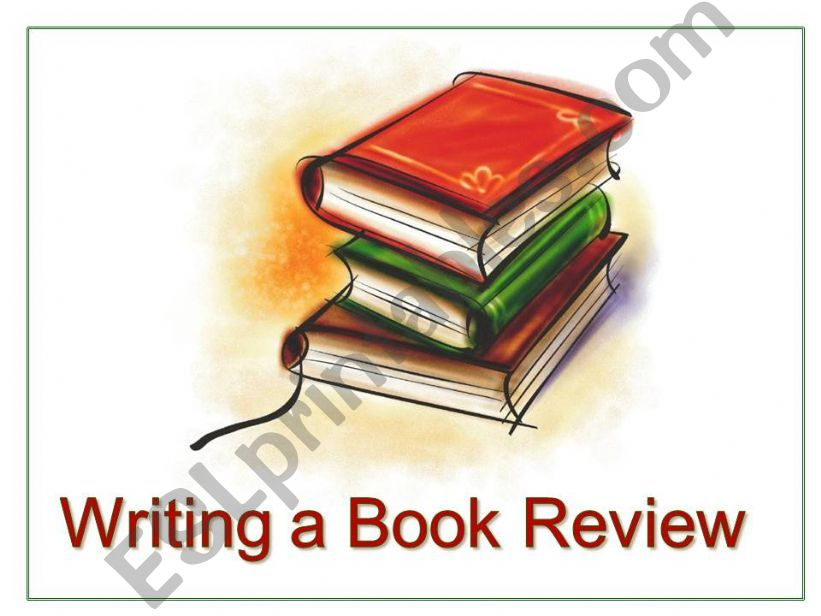 Writing a Book Review  powerpoint