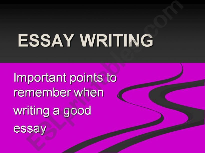 Essay Writing: Important Points