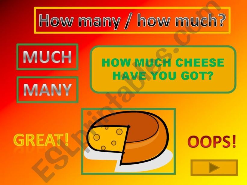 HOW MUCH / HOW MANY game powerpoint