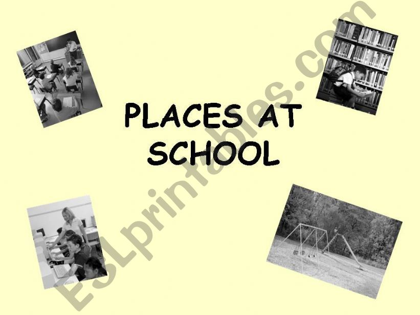 Places at school powerpoint