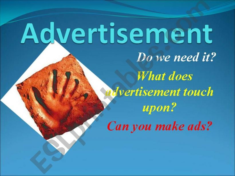 Advertisement in your life powerpoint