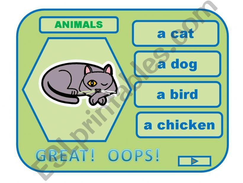 ANIMALS game powerpoint