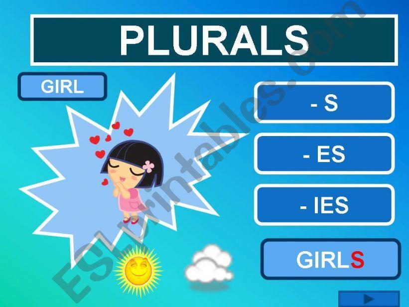 PLURALS game powerpoint