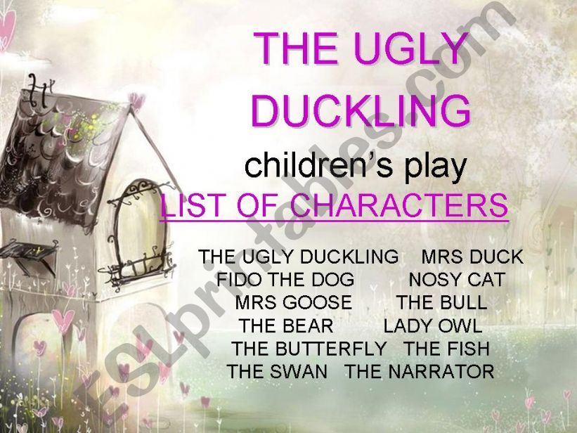 children´s play - THE UGLY DUCKLING