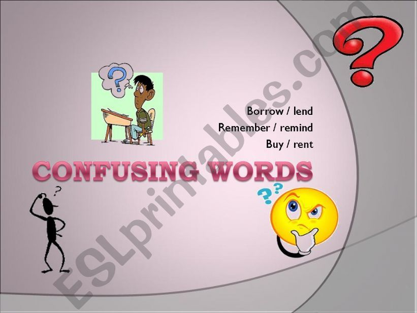 Confusing words powerpoint