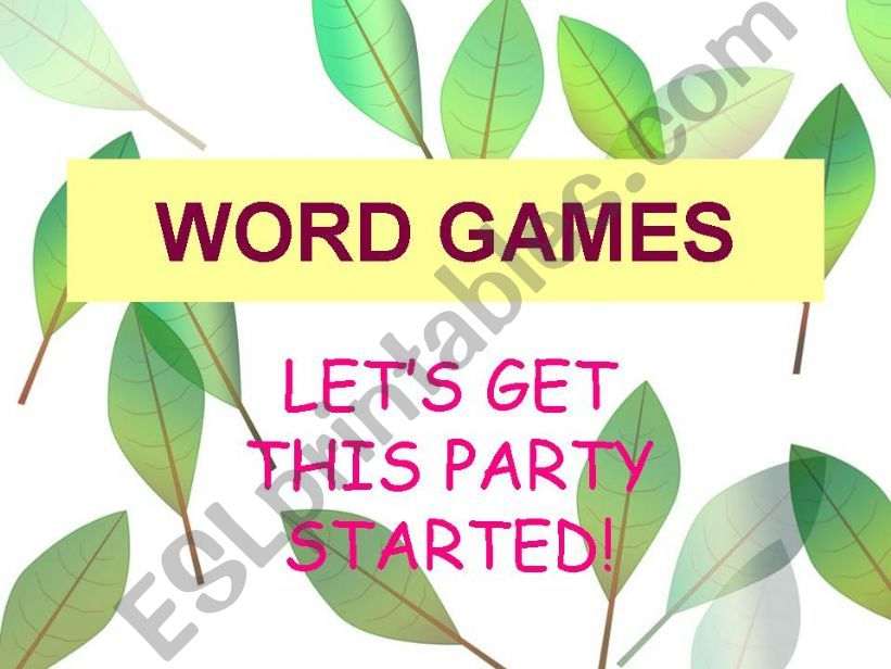 word games!!!! powerpoint