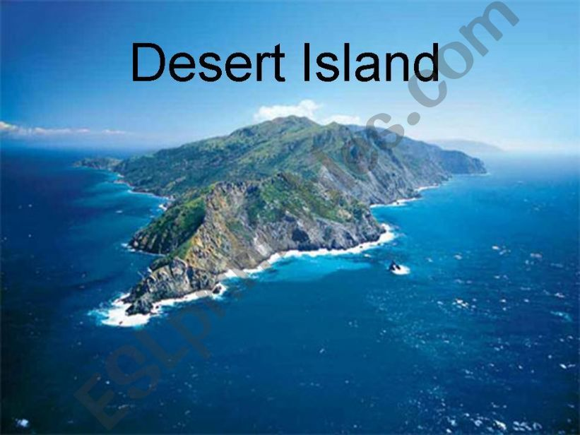 Desert Island Activity powerpoint