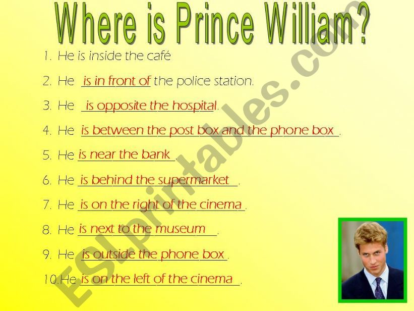 Prepositions and building Key powerpoint
