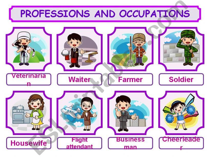 PROFESSIONS AND OCCUPATIONS PRESENTATION!