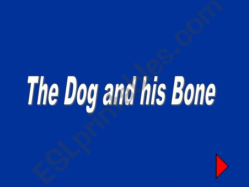 The Dog and his Bone Fable powerpoint
