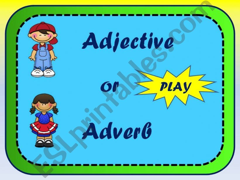 adjective or adverb powerpoint