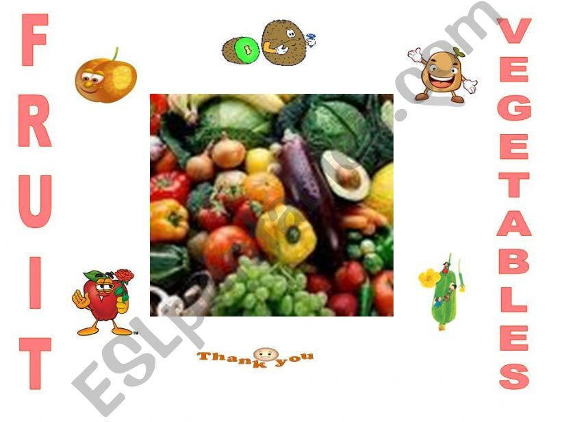 fruit and vegetables powerpoint