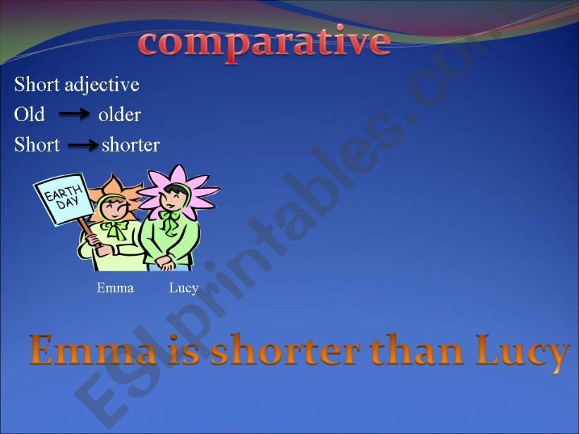Comparative (short adjectives)