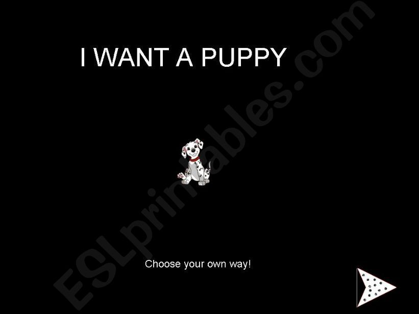 I Want a Puppy - Choose your own way story