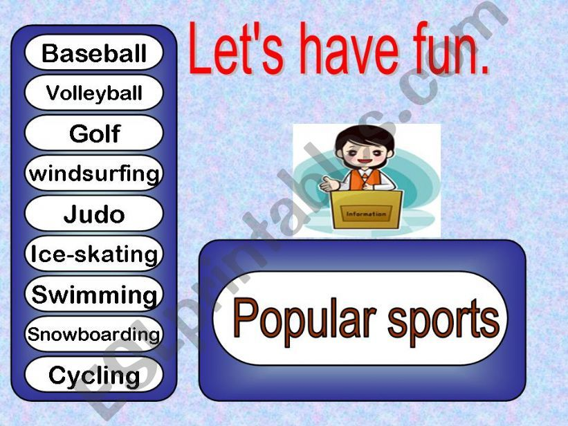 Let´s have fun  sports powerpoint