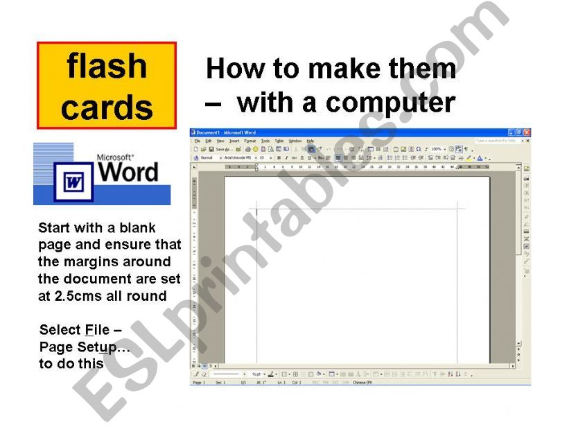 How to Make Flash cards with Word