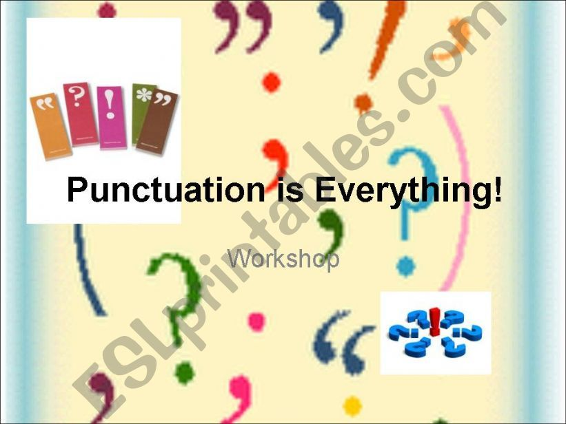 Punctuation is Everything powerpoint