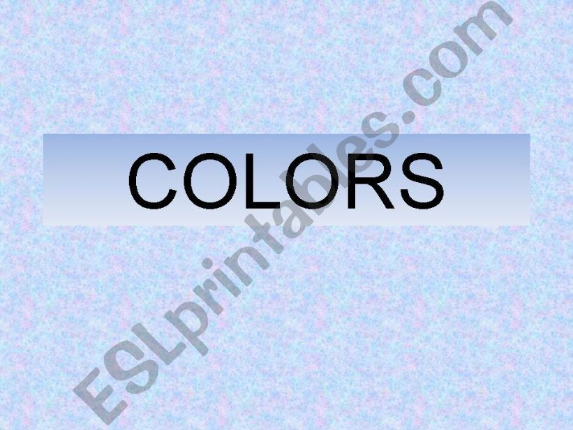 Colors powerpoint