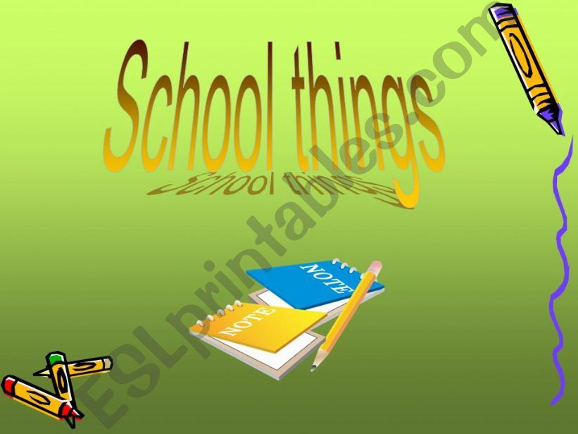NEW GAME ON SCHOOL THINGS!!! powerpoint