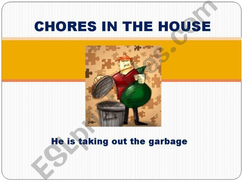Chores in the house 2 Present progressive
