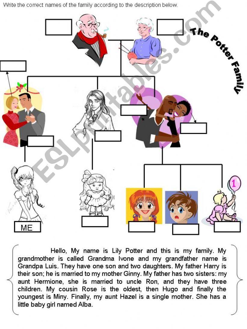 The Family Description powerpoint