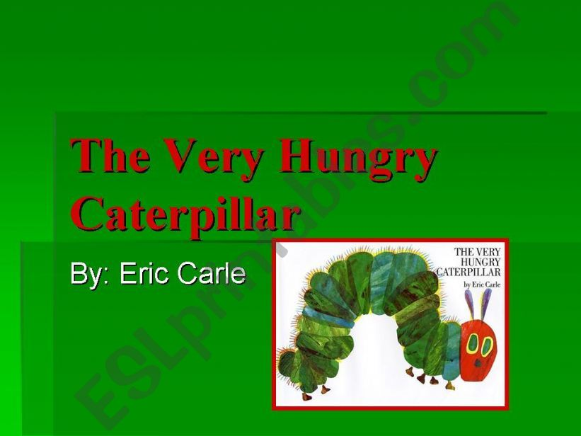 each day the caterpillar ate powerpoint