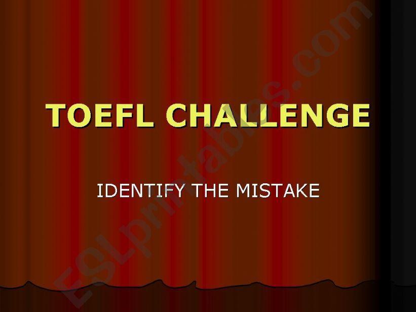 TOEFL CHALLENGE powerpoint