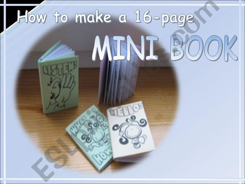 How to make a 16-page Mini Book