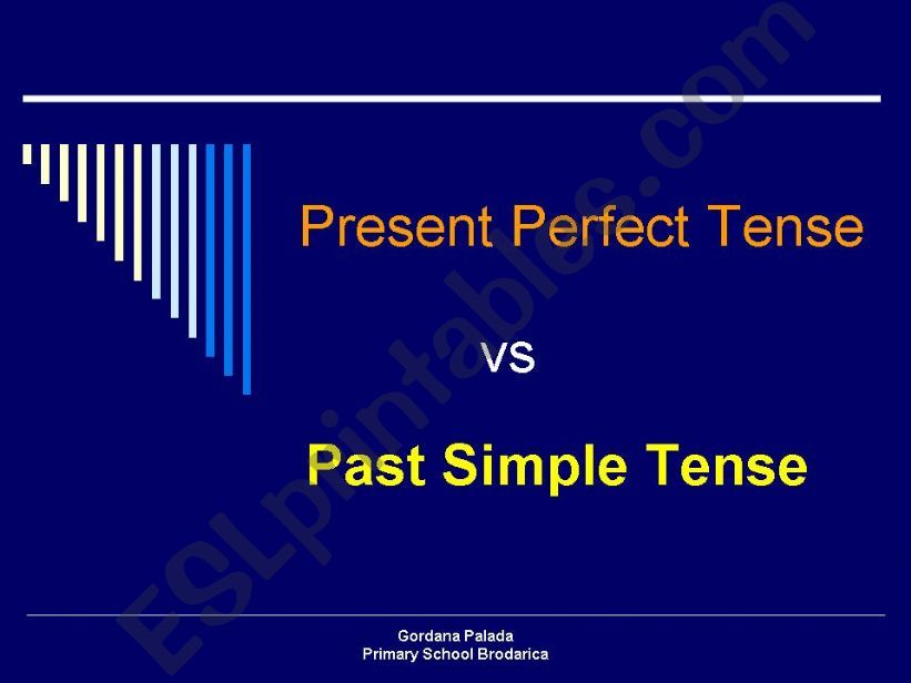 Present Perfect Tense VS Past Simple Tense