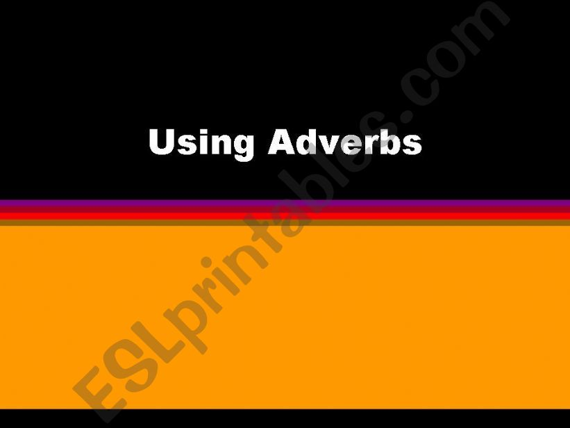 using adverbs powerpoint