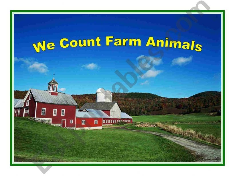We Count Farm Animals powerpoint