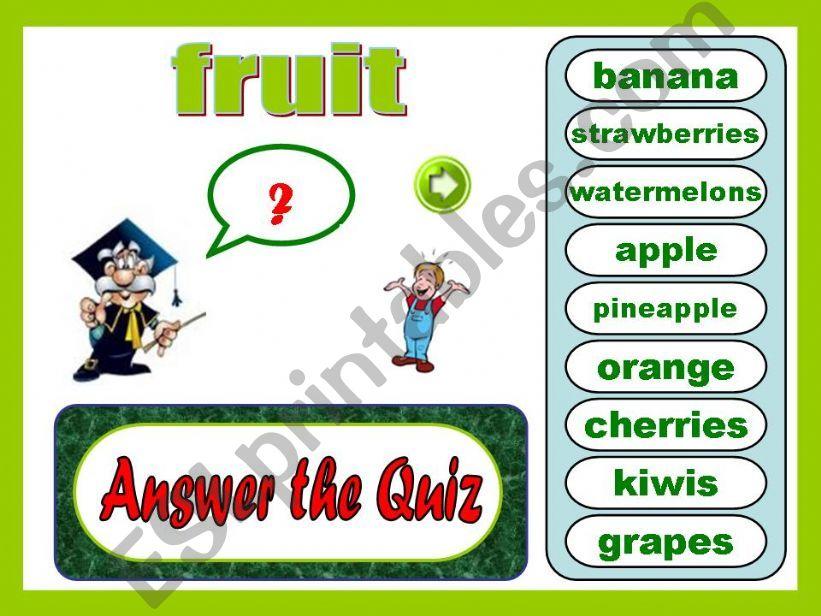Vocabulary: fruit powerpoint