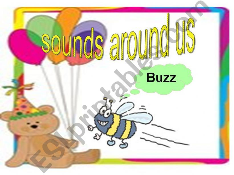 SOUNDS AROUND US powerpoint