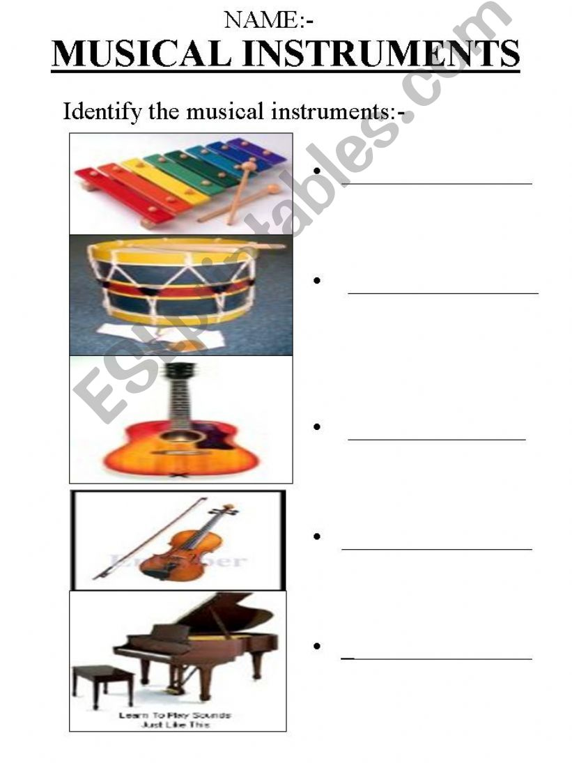 Identify the Musical Instruments