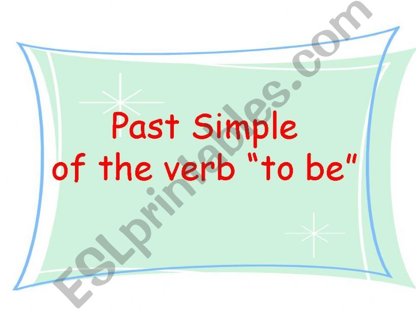 Past Simple of the verb