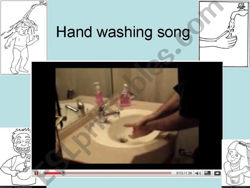 Hand washing song  powerpoint